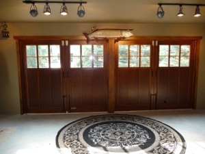 carriage doors transform garage into living space