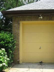 Ugly overhead garage door