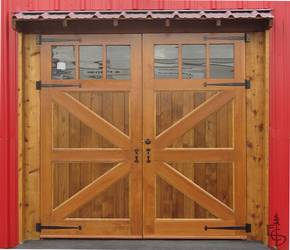 Evergreenu0027s Britannia Braced Carriage Doors With Glass Created A  Picturesque Entry For The Showroom Of A
