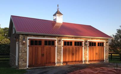 Three bay carriage house.